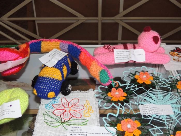 Выставка работ по вязанию